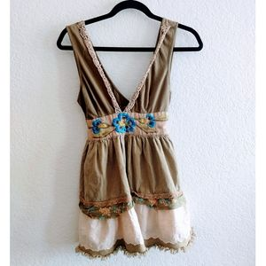 Free People Embroidered Top Size Small